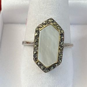 Mother of Pearl Accent Sterling Silver Ring
